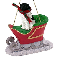 Landseer Sleigh Ride Ornament