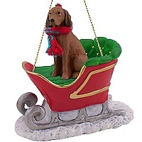 Vizsla Sleigh Ride Ornament