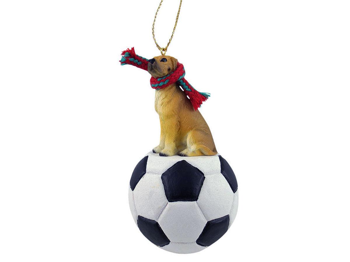 Great Dane Fawn W Uncropped Ears Soccer Ornament