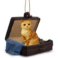 Red Tabby Manx Traveling Companion