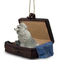 Poodle Gray Traveling Companion Ornament