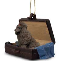 Poodle Chocolate Traveling Companion Ornament