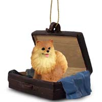 Pomeranian Red Traveling Companion Ornament