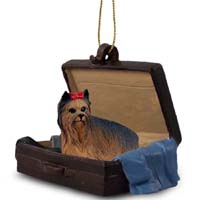 Yorkshire Terrier Traveling Companion Ornament