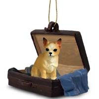 Chihuahua Tan & White Traveling Companion Ornament