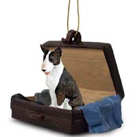 Bull Terrier Brindle Traveling Companion Ornament
