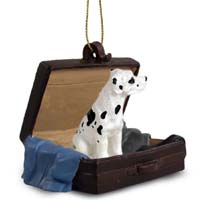 Great Dane Harlequin w/Uncropped Ears Traveling Companion Ornament