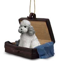 Poodle Gray w/Sport Cut Traveling Companion Ornament