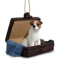 Jack Russell Terrier Brown & White w/Smooth Coat Traveling Companion Ornament