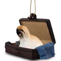 Lhasa Apso Brown Traveling Companion Ornament