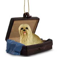 Lhasa Apso Blonde Traveling Companion Ornament