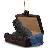 Lhasa Apso Black Traveling Companion Ornament