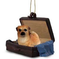 Tibetan Spaniel Traveling Companion Ornament