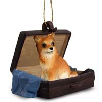 Chihuahua Longhaired Traveling Companion Ornament