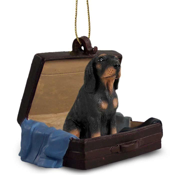 Coonhound Black Tan Traveling Companion Ornament