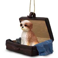 Shih Tzu Tan w/Sport Cut Traveling Companion Ornament