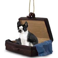 Boston Terrier Traveling Companion Ornament