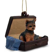 Yorkshire Terrier Puppy Cut Traveling Companion Ornament
