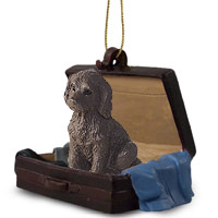 Labradoodle Chocolate Traveling Companion Ornament