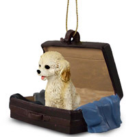 Cockapoo Blond Traveling Companion Ornament