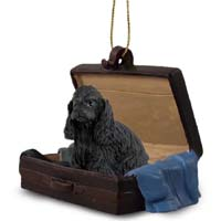 Cocker Spaniel Black Traveling Companion Ornament