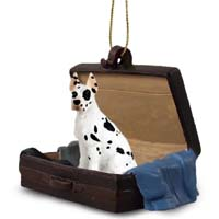 Great Dane Harlequin Traveling Companion Ornament