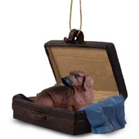 Dachshund Red Traveling Companion Ornament