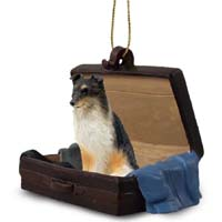 Sheltie Tricolor Traveling Companion Ornament