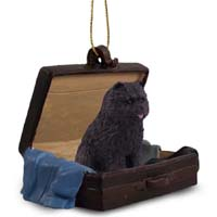 Chow Black Traveling Companion Ornament