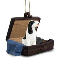 Springer Spaniel Black & White Traveling Companion Ornament