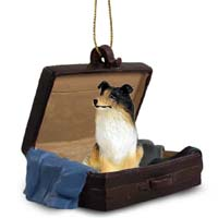 Collie Tricolor Traveling Companion Ornament
