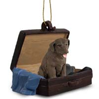 Labrador Retriever Chocolate Traveling Companion Ornament