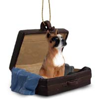 Boxer Traveling Companion Ornament