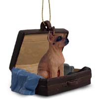 Boxer Tawny Traveling Companion Ornament