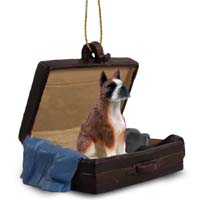 Boxer Brindle Traveling Companion Ornament