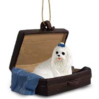 Maltese Traveling Companion Ornament