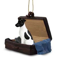 Fox Terrier Black & White Traveling Companion Ornament