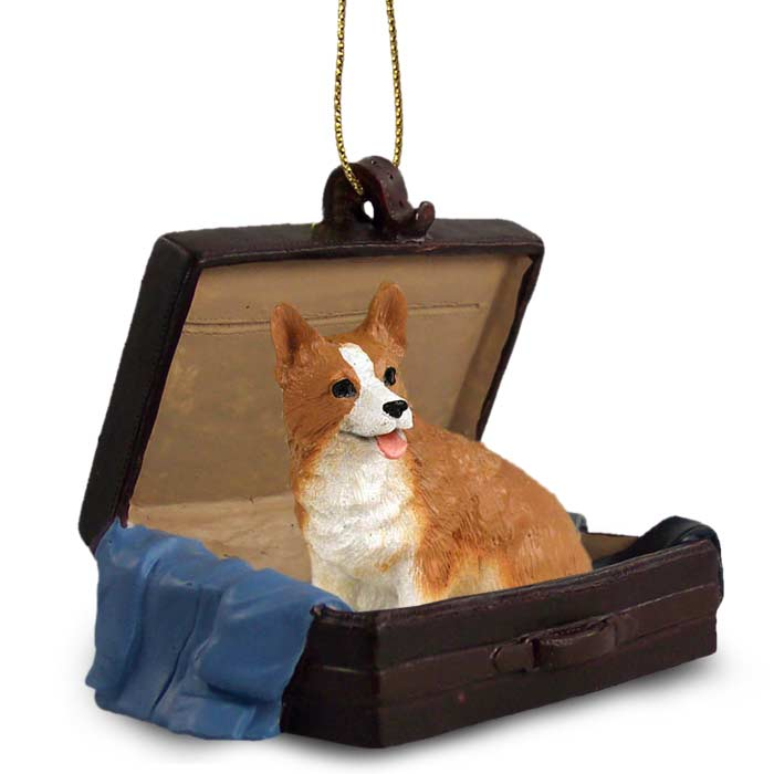 welsh corgi pembroke traveling companion ornament - Corgi Christmas Ornaments
