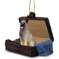 Norwegian Elkhound Traveling Companion Ornament
