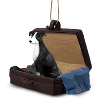 Greyhound Black & White Traveling Companion Ornament