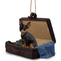 Miniature Pinscher Tan & Black Traveling Companion Ornament