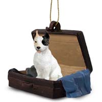Pit Bull Terrier White Traveling Companion Ornament