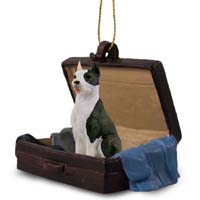 Pit Bull Terrier Brindle Traveling Companion Ornament