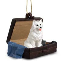 American Eskimo Traveling Companion Ornament