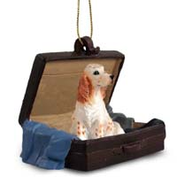 English Setter Belton Orange Traveling Companion Ornament