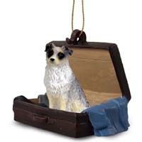 Australian Shepherd Blue Traveling Companion Ornament