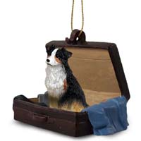 Australian Shepherd Tricolor Traveling Companion Ornament