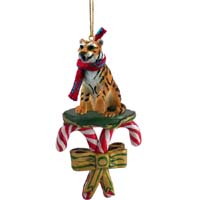 Tiger Candy Cane Ornament