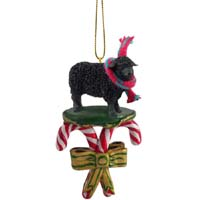 Sheep Black Candy Cane Ornament