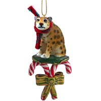Jaguar Candy Cane Ornament